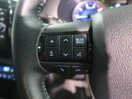 走行中でも、スムーズなオーディオ操作が可能なステアリングスイッチを装備!音量やチャンネル・モードなどが切り替えられます。