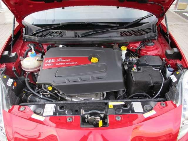 アルファ ロメオ伝統の1750ccという排気量を受け継ぐ直列4気筒直噴ターボエンジン。