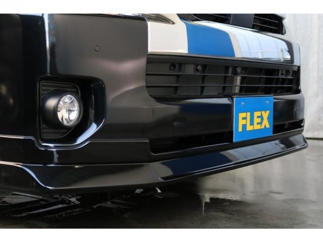 FLEXオリジナルのフロントスポイラーを装着しており、表情も先進的なものへと変身しています!!