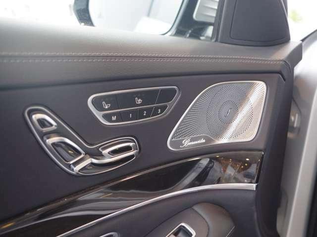 Burmesterサウンドシステムを装備。良質な音楽を車内でお楽しみ下さい。