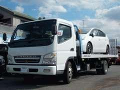 お客様のご自宅まで納車できるよう、自社積載車を完備しております。