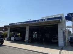 サービス工場です。運輸局指定工場の認可をいただいております。
