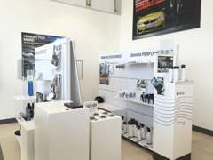 BMWライフを満喫いただけるよう、アクセサリーも豊富に展示・販売いたしております。