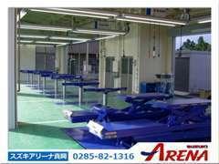 指定工場完備しております。車検も整備もお気軽にご相談下さい。