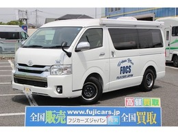トヨタ ハイエース キャンピング FOCS DS-L アーバンブルー 登録済新車 当社デモカー オーニング