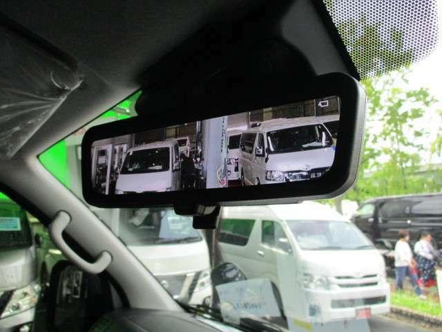 デジタルインナーミラー装備!ワゴンGLで特に見えずらかった後方視界がスッキリです!