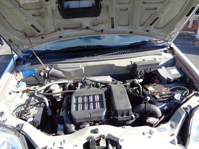 エンジンは安心タイミングチェーンですのターボエンジンです
