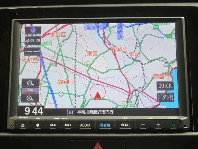 ギャザス インターナビ VXM215VFEi メモリーナビゲーション搭載 SD Bluetooth フルセグチューナー付きです
