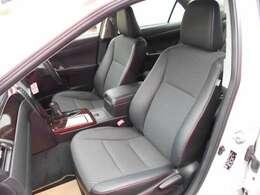 フロントシートです。シートも大きく長距離でも、ゆったりと座れます。