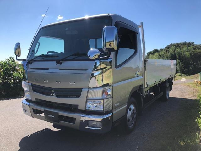 キャンター 2t 平ボディ ロング トラック ●最大積載量:2000kg ●荷台寸法:長さ435cm、幅190cm、高さ60cm ★エンジン、ミッション、パワステ、正常動作確認済み。