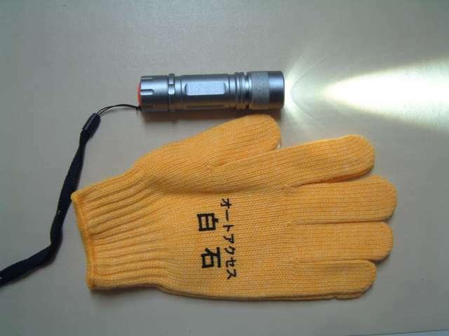 Bプラン画像:高輝度LEDライト、軍手(イメージです)