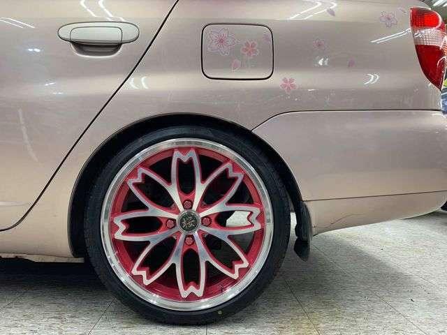 絶版・和道桜17インチAW×ピンクカラーラグナット×ピンクエアバルブキャップ!新品タナベ車高調!