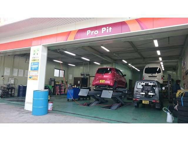 継続車検等もお願いしている、提携の指定整備工場さんです。