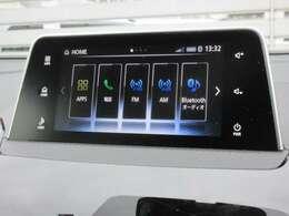 スマートフォン連携オーディオディスプレイです!お持ちのスマートフォンと連携して音楽や動画を車内に轟かせましょう!