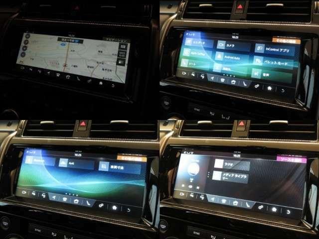 【純正SSDナビゲーションシステム】AppleCarPlay / Android Autoやお手持ちのスマートフォンなどからのBluetooth接続にも対応。スマホ感覚で簡単タッチスクリーン操作。