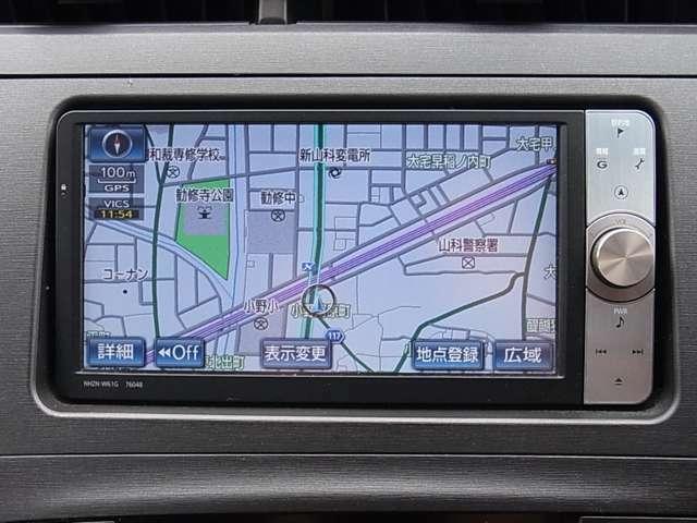 フルセグTVチューナー付トヨタ純正HDDナビ