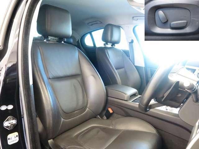 フロントシートには6ウェイ電動シートを装備。ドライバーにあわせて細かく調整でき、自分好みの位置に合わせることが可能です。