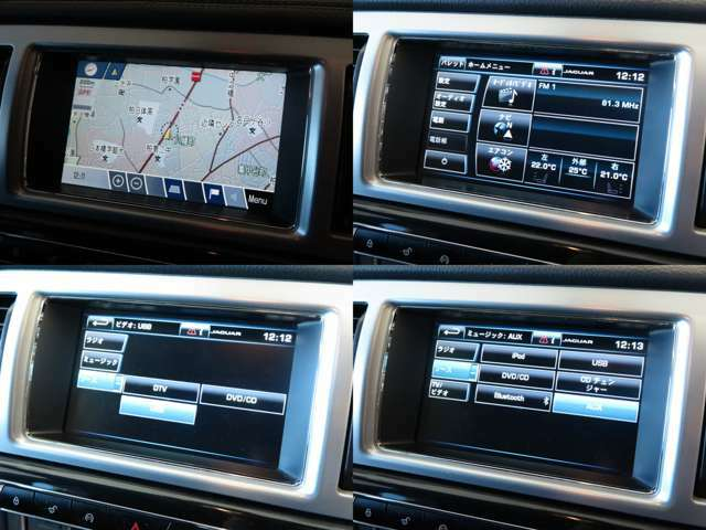 地上波デジタル放送に対応した8インチタッチディスプレイを採用する純正ナビゲーションシステム。