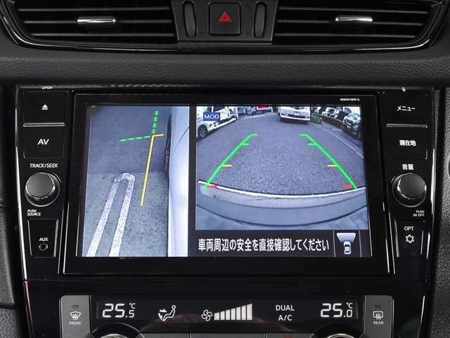 オプションボタンをワンプッシュでサイドカメラに切り替わります~ 縁石や壁際にもピッタリ駐車~
