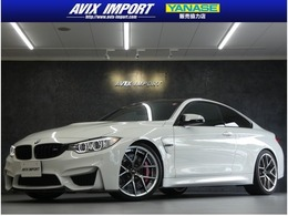 BMW M4クーペ M DCT ドライブロジック コンペティションパッケージ装着車 3Dデザイン 衝突回避 黒革 アクラポマフラ-
