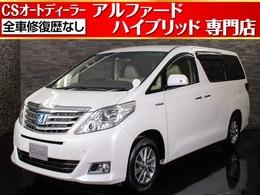 トヨタ アルファードハイブリッド 2.4 X 4WD SDナビ/自動ドア/7人乗/フルセグ/ETC