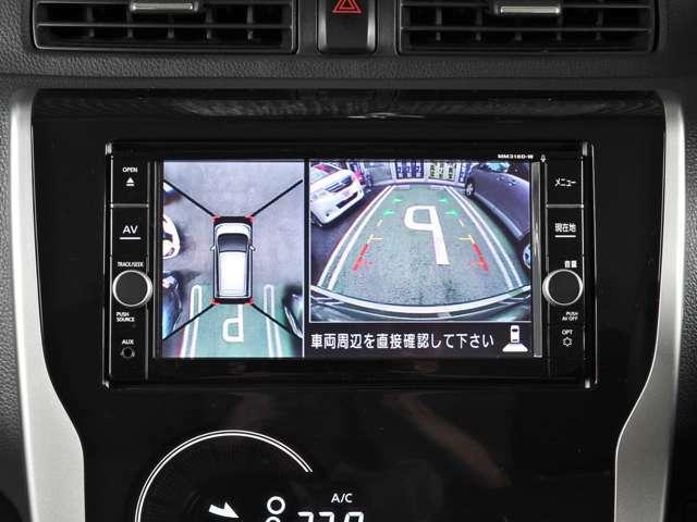 アラウンドビューモニター グルッと一回り画像で見渡すことが出来ます~ 車庫入れや縦列駐車、旋回時にもスムーズな取り回し~