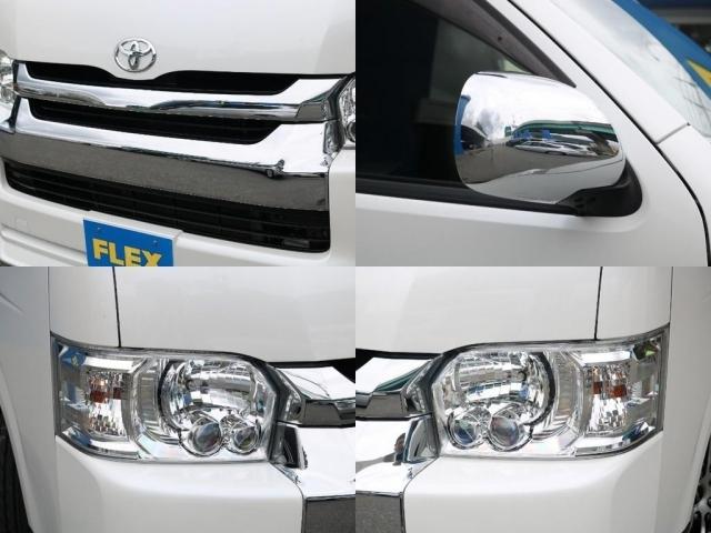 メーカーオプションのLEDヘッドライトを完備! 夜道を明るく照らしてくれます。