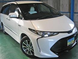 トヨタ エスティマハイブリッド 2.4 アエラス スマート 4WD 9型ナビ12型後席TV白革CソナPBドアサイドAB