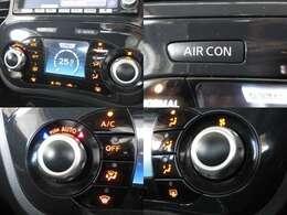 ワンタッチで快適な温度に調整してくれます、AUTOエアコンです♪