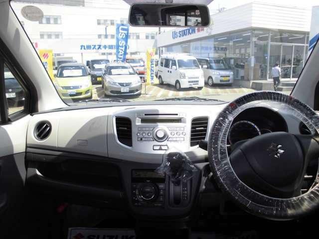 フロントガラスも大きく視界が良好です!ドライバー目線の画像です。視界も確保されているので、見やすいですよ。