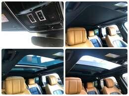 スライディング機構付パノラミックルーフ(メーカーオプション参考価格332,000円) 電動シェードをオープンにすれば太陽の自然光を取り込み、スライディングルーフを開ければ心地良い風を車内に取り込みます。