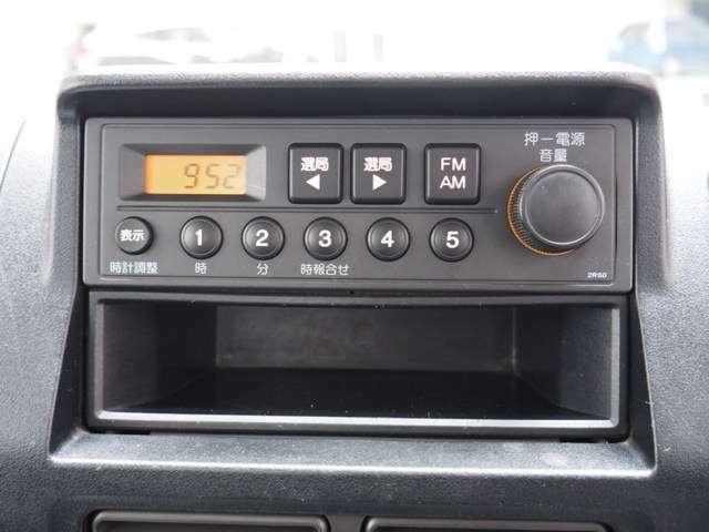 AM/FMラジオ装着です