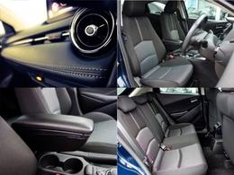 フロントシートは、ゆったり座れるサイズにしたうえで、シートバックと座面に新開発の振動収集ウレタンなどを採用。シート全体で包み込まれるようなフィット感、快適な座り心地と自然なペダル操作性を実現しています