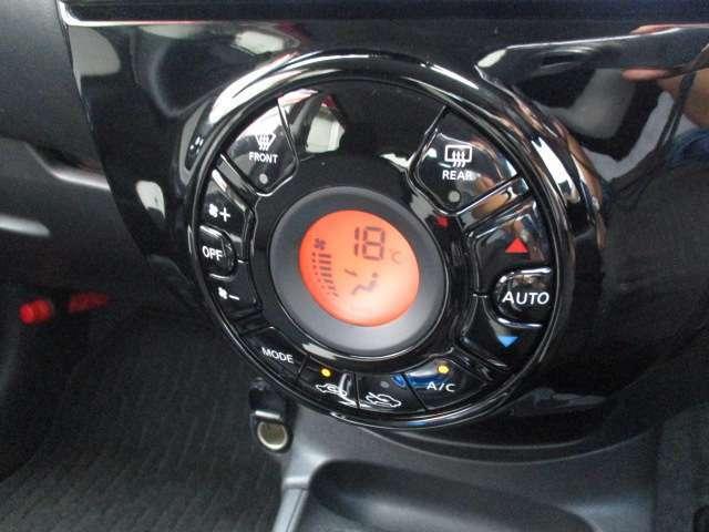 オートエアコンで温度を設定すれば自動で空調調整をしてくれます★ボタンひとつで簡単便利