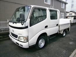 トヨタ ダイナ ダブルキャブ 平ボディー 1.1t積 垂直パワーゲート ETC付