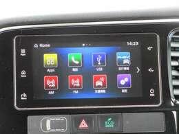 スマートフォン連携オーディオ付き!スマホを接続し、ナビ機能や音楽再生が使用可能!