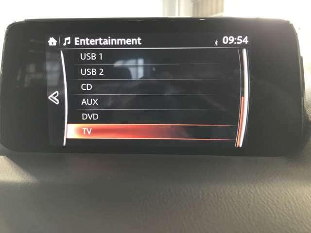 CD、DVDはもちろん、USBやBluetoothも対応♪