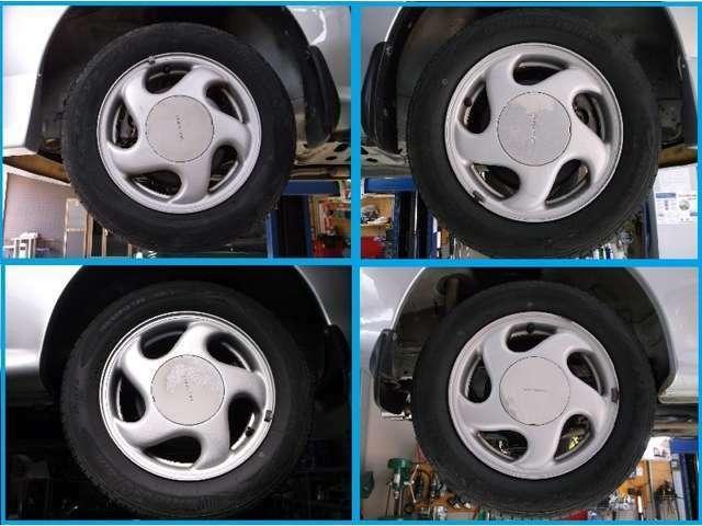 ホイールとタイヤのお写真になります。♪155/65R13のスバル純正ホイールです☆
