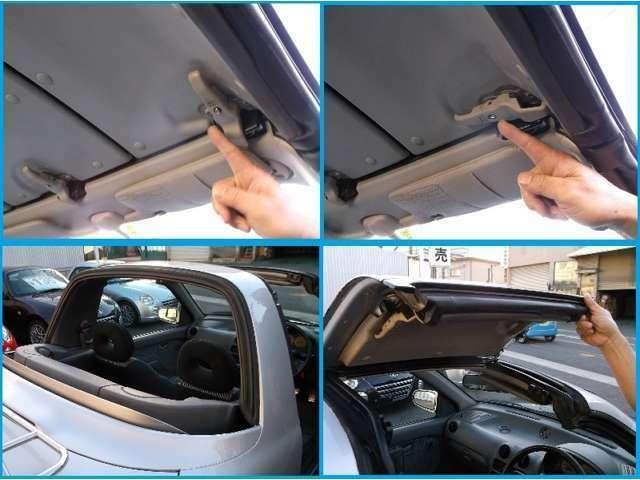 ルーフ(天井)は外してトランクに収納できる「タルガトップ」と呼ばれる方式でオープントップ化☆3枚のパネルを外してくださいね♪
