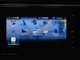☆オーディオメニュー(専用音楽アプリ対応/フルセグTV/Bluetooth/CD,DVD)