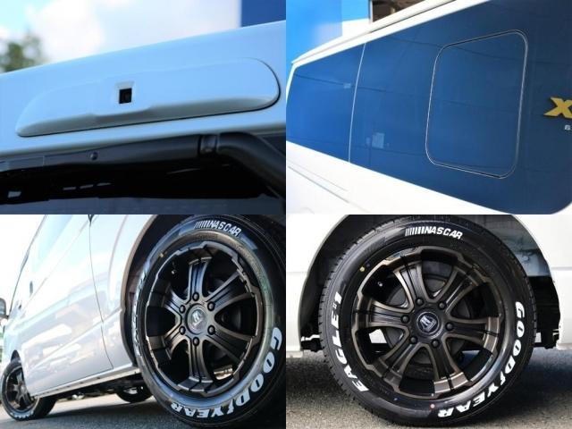 足回りにはFLEX ワイルドディープスデ 17inchAW(専用カラー)&グッドイヤーナスカーホワイトレタータイヤをインストール☆