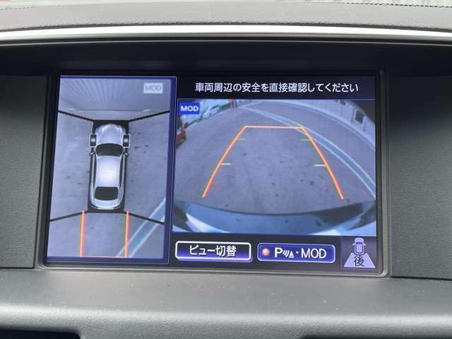【アラウンドビューモニター】で安全確認が出来ます☆バックや駐車が苦手な方や運転初心者の方などにオススメで便利な安全機能です(^^)/