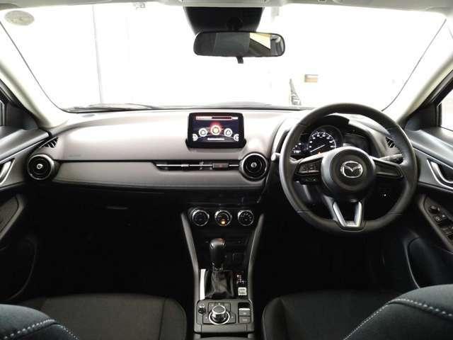 車内クリーニング済♪スッキリとしたインパネで車内のキズも少ないです♪マツダコネクト、エアコンが中央に集約されており操作がしやすいです♪