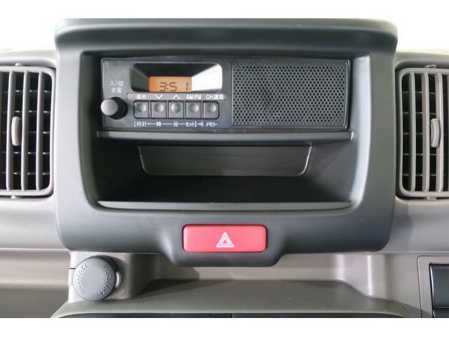 時計機能付きのAM/FMラジオです。