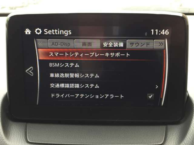 【スマートシティブレーキサポート/BSMシステム/車線逸脱警報システム/交通標識認識システム/ドライバーアテンションアラート】