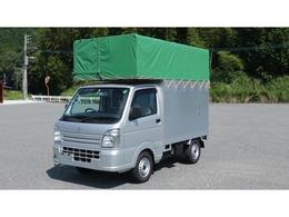 スズキ キャリイ 660 KCエアコン・パワステ 3方開 特装車 軽運送 幌車 仮装 パネルバン