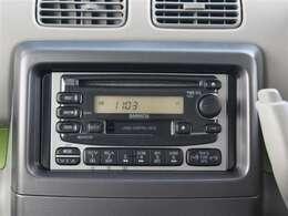 CDカセットチューナー付!お好きな音楽やラジオを聴きながらドライブできます!
