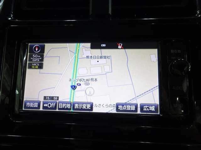 ナビ付なので、遠出の際も道に迷うことはありません♪安心してドライブをエンジョイして下さい♪(NSZN-W64T)