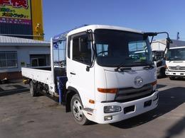 UDトラックス コンドル 4トン 4段クレーン フックイン 荷台内寸長さ5490 幅2140積載2550k