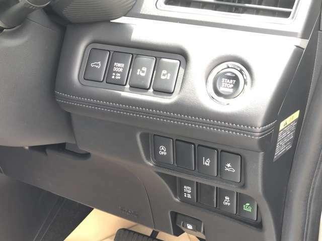 オートサイドステップ、両側オートスライドドア、リヤパワードア、自動(衝突被害軽減)ブレーキ他、基本装備も充実しています。